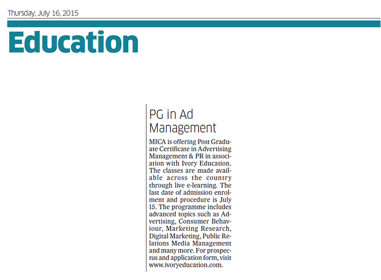 Deccan Herald - Education - July 16, 2015